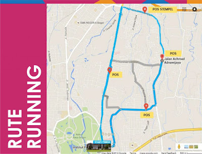 Rute 10K Nutrition Fun Jogging and Running 2016 Bogor pergizi pangan indonesia kampus ipb baranangsiang