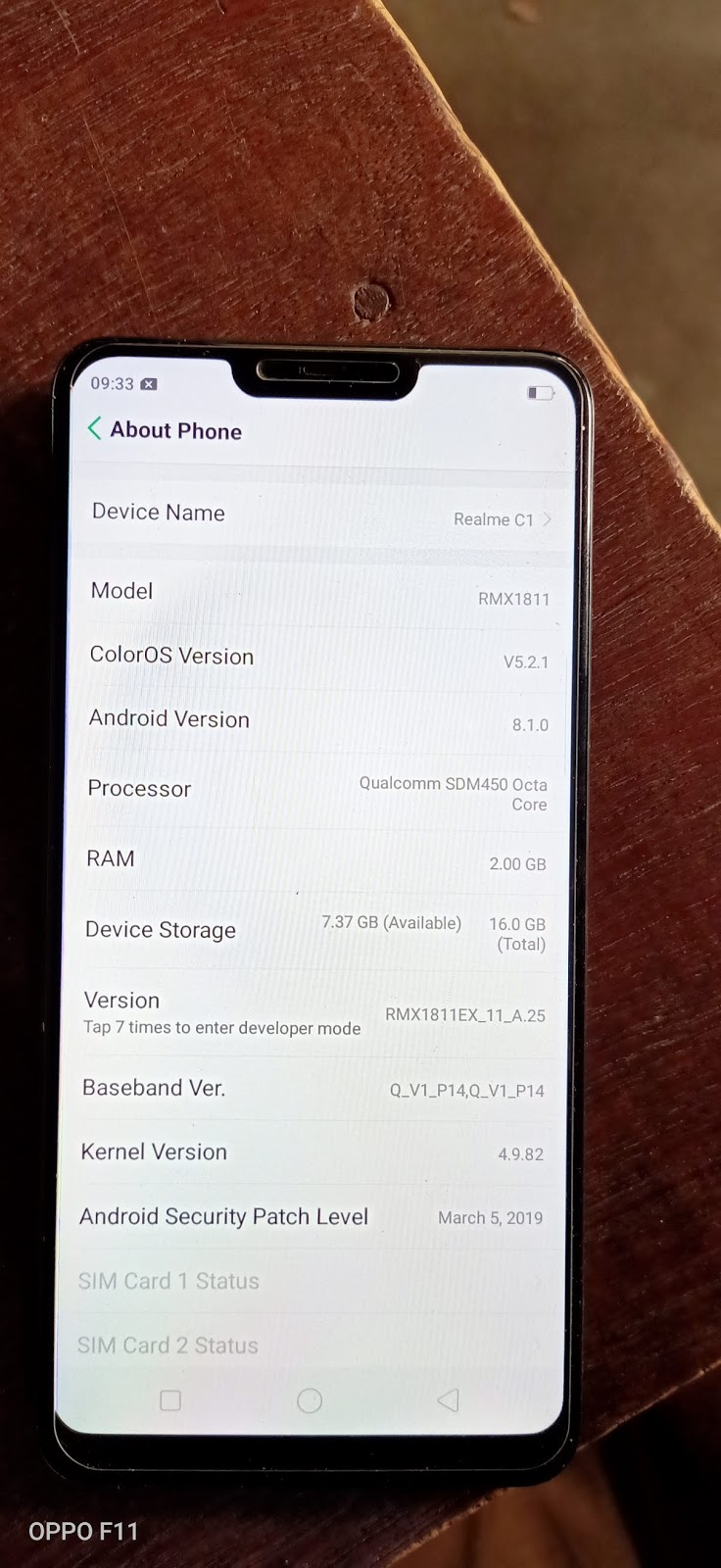 REALME C1 RMX1811 USER LOCK DONE WITHOUT DATA LOSS - QGSM