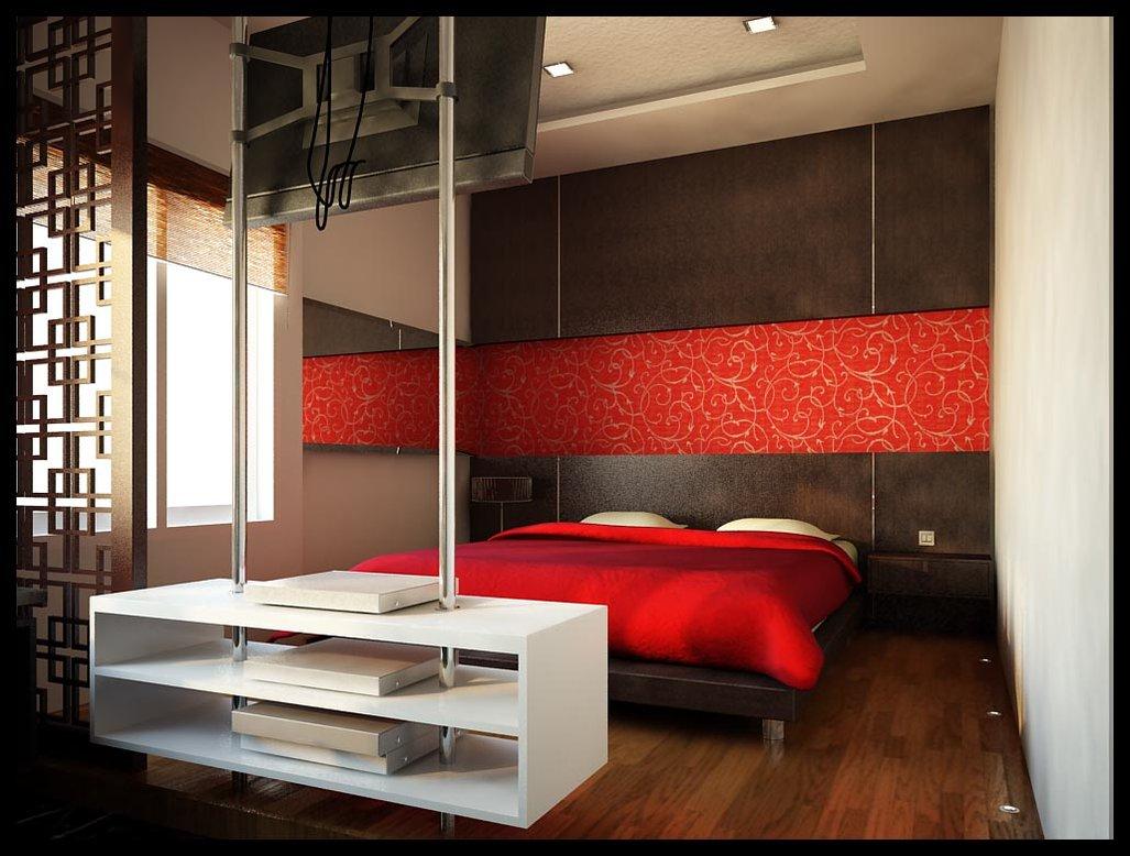 decoracao moderna Red idéias quartos