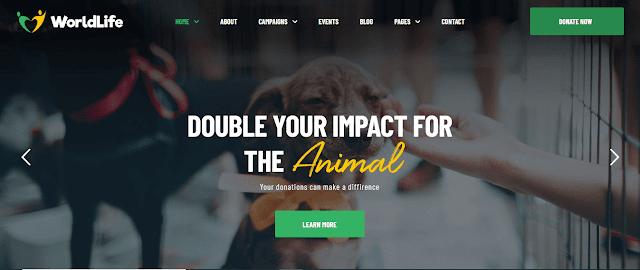 Nonprofit Fundraising & Charity WordPress Themes With Donation System   Worldlife