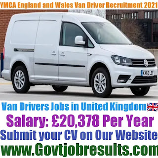 YMCA England and Wales Van Driver Recruitment 2021-22