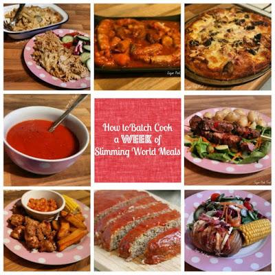 slimming world batch cook meals