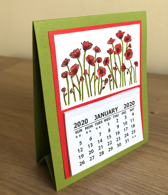 Painted Poppies Desk Calendar Stampin Up