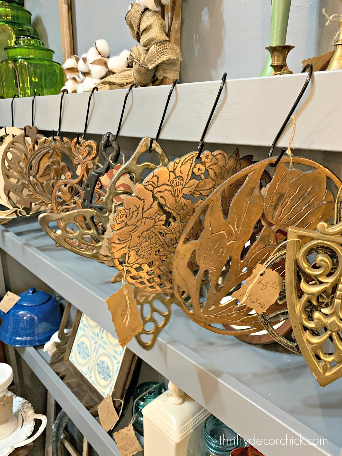 Vintage brass trivets