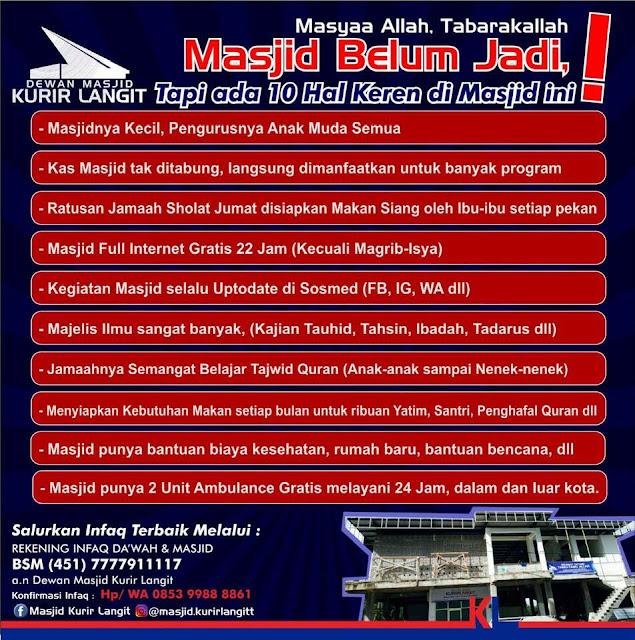 10 Hal Keren di Masjid Kurir Langit