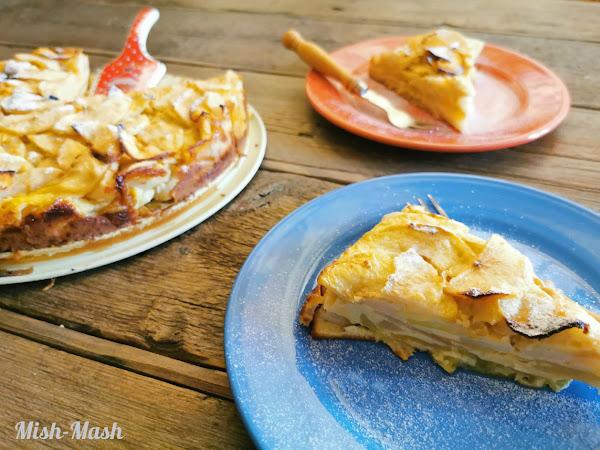 Флан торта с ябълки и круши