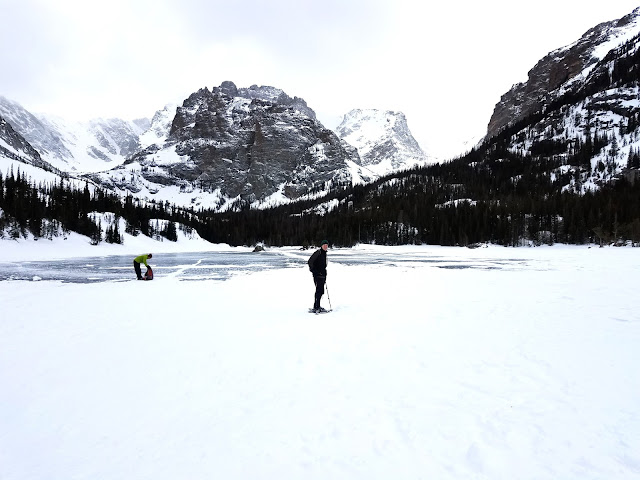 Out on the ice in Rocky Mountain National Park