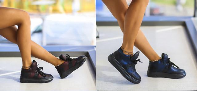 Adidasi dama la moda ieftini negri, albastri pentru toamna