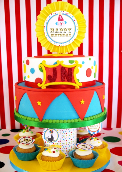 Big Top Circus Carnival Inspired Birthday Party Ideas and Printables Cake
