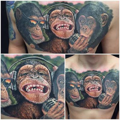 Tatuaje de los 3 Monos Sabios