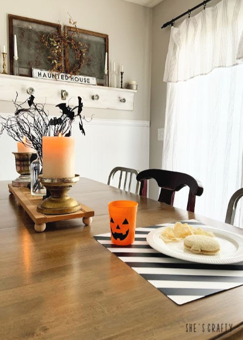 Family Friendly Halloween Traditions  -  candle lit dinners