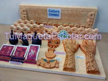 maqueta de la cultura chimu