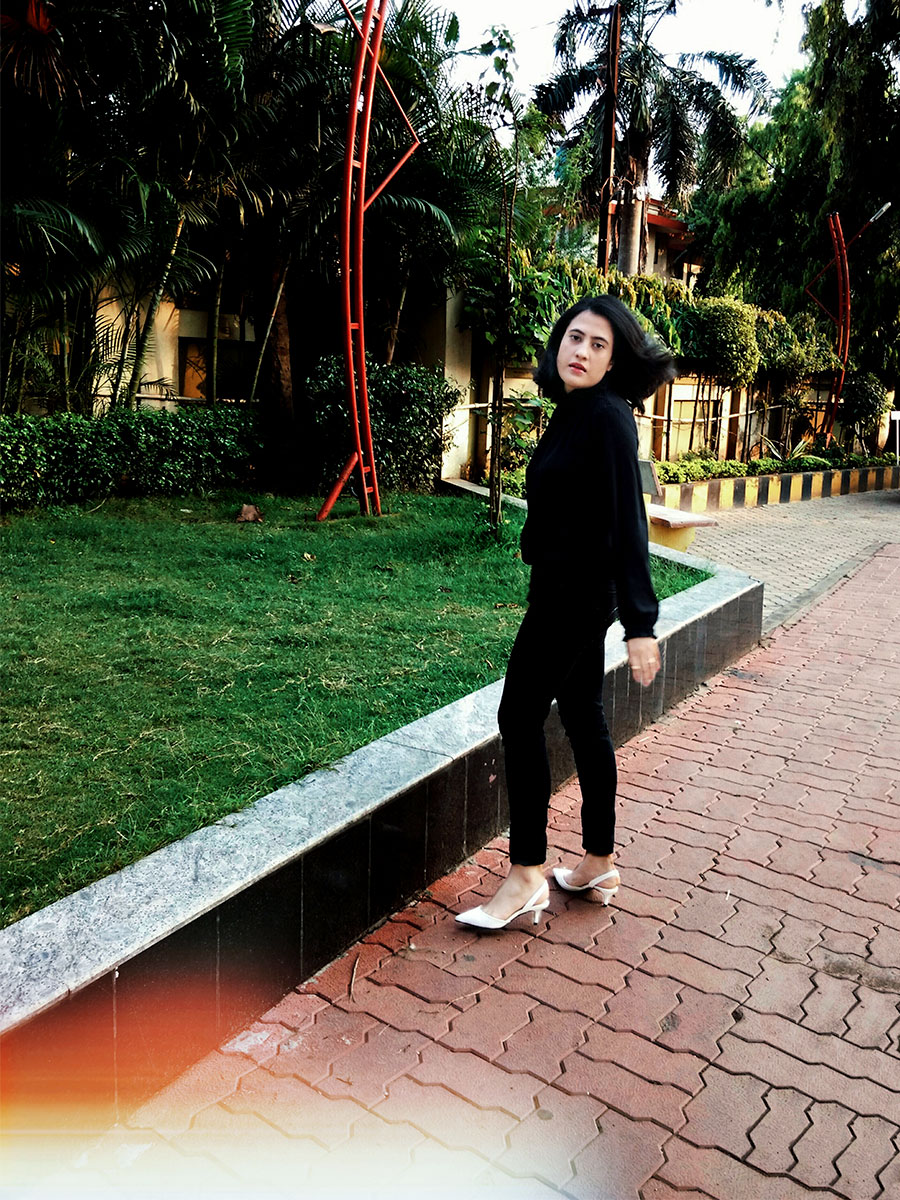DHEERAJOSHI, FASHION BLOGGER, ALL BLACK LOOK
