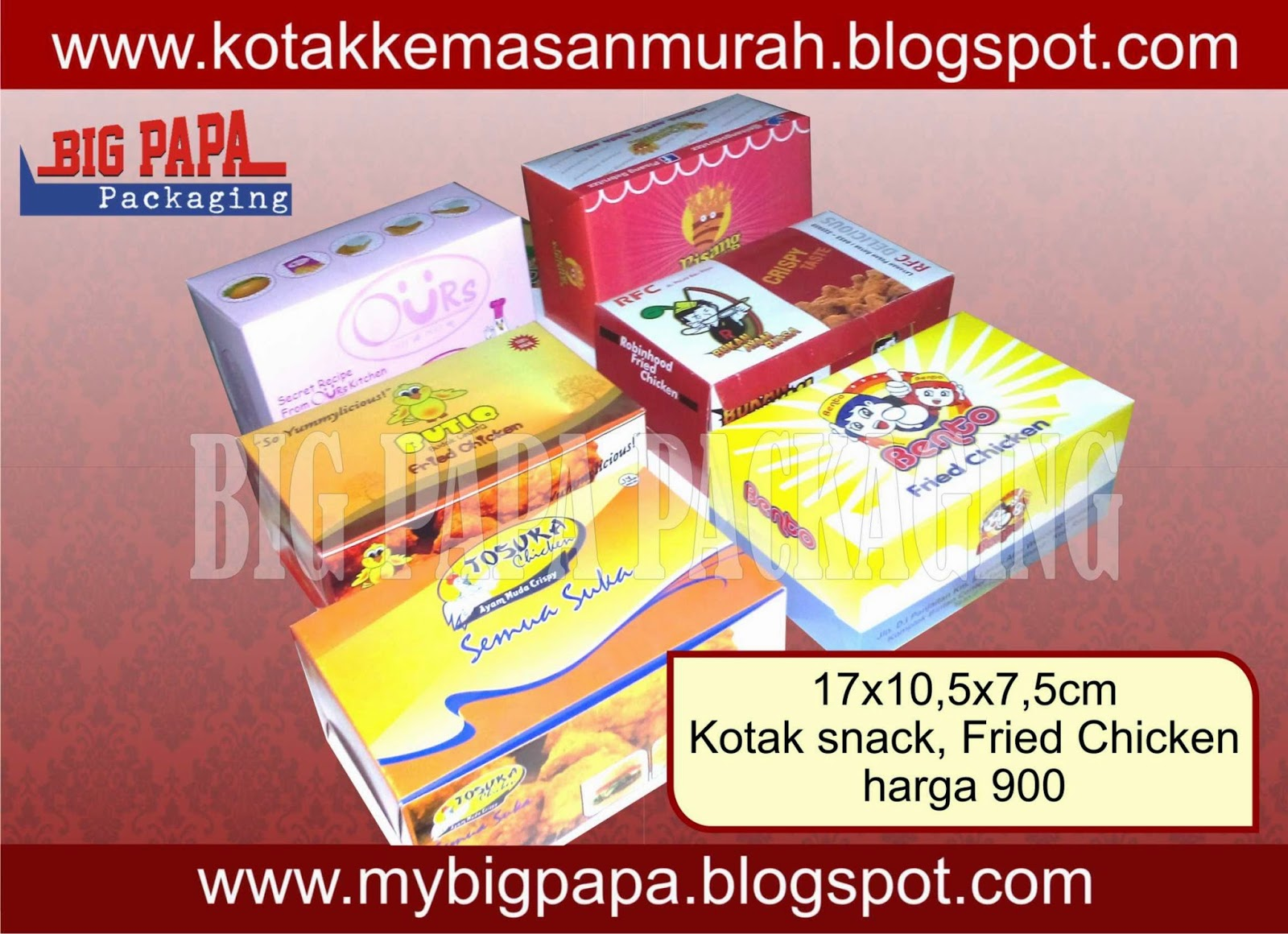 snack box kotak fried chicken