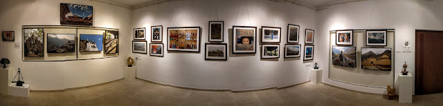 Panoramic view of Milind Sathe's photography show at Indiaart Gallery, Pune