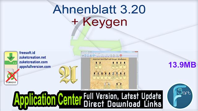 Ahnenblatt 3.20 + Keygen