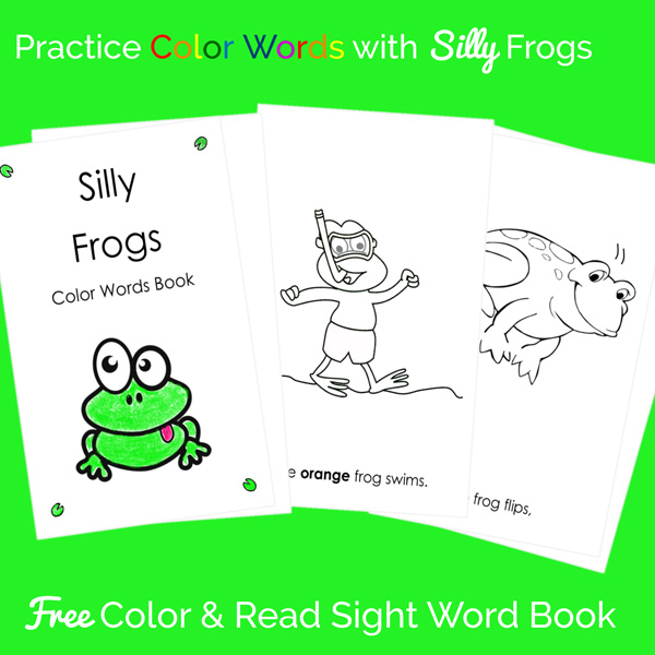 Print out this sight word book for your kids to color and read. Great practice reading color words!
