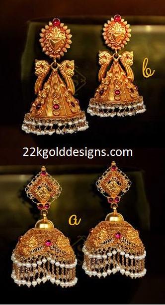 Gold Temple Jhumkas