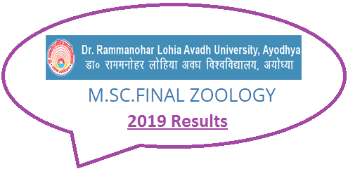 RMLAU M.Sc Zoology Final Result 2019