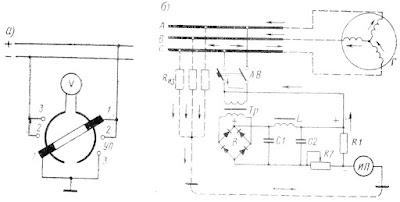 Схемы измерения сопротивления изоляции щитовыми приборами