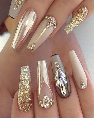 ideas nails rhinestones