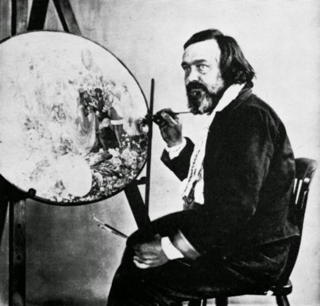 Henry Hering, Richard Dadd pintando Contradicción: Oberón y Titania (h.1865)