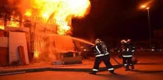 اشتعال حريق ضخم بجامعة الفيوم ينتج عن خسائر كبيرة