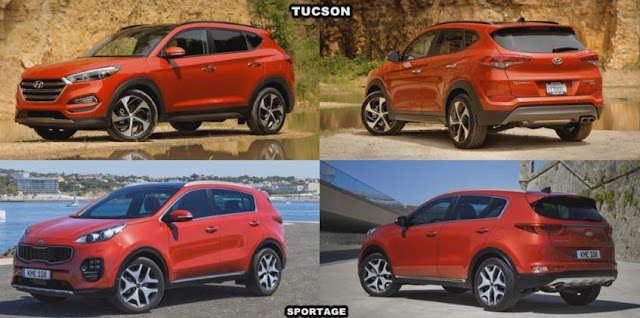 KIA Sportage 2016 VS Hyundai Tucson 2015 - Video confronto - Test - Prova - Recensione