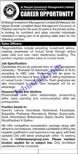 Jobs in Al Meezan Investment Management Limited 2020