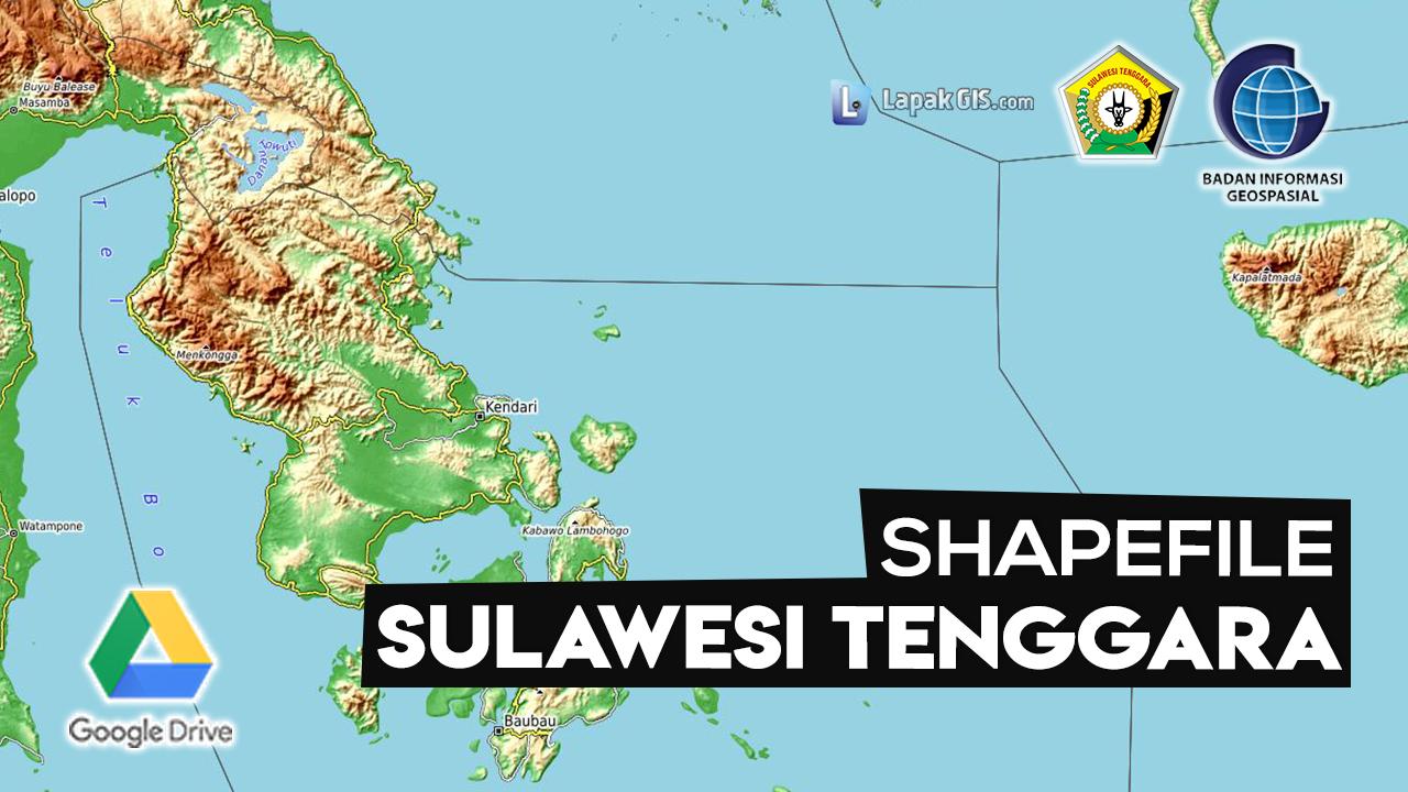 Shapefile Provinsi Sulawesi Tenggara Terbaru