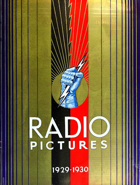 1930 Radio pictures large color poster with metallic ink
