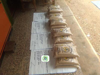 1-Benih padi yang dibeli EUIS SUTARSIH Sukoharjo, Jateng (Sebelum packing karung ).