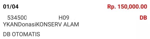 Donasi April 2021 Android31 PPOB STORE dan Bad Rabbit Merch