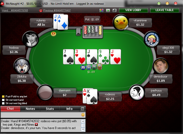 Online poker for small money