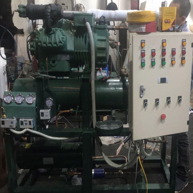 Cụm máy nén bình ngưng giải nhiệt nước bitzer 2 cấp 30HP
