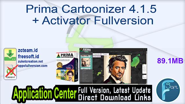 Prima Cartoonizer 4.1.5 + Activator Fullversion