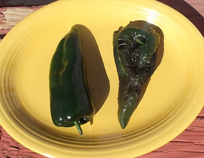 charred poblano peppers