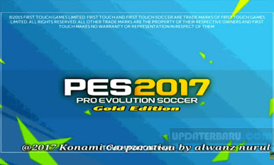 download Update PES 2017 APK OBB Full Data Gold Edition For Android Terbaru