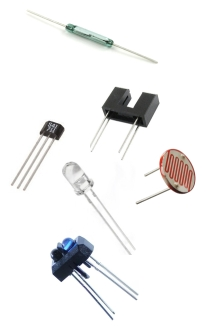 Alguns tipos de sensores de voltas para pistas