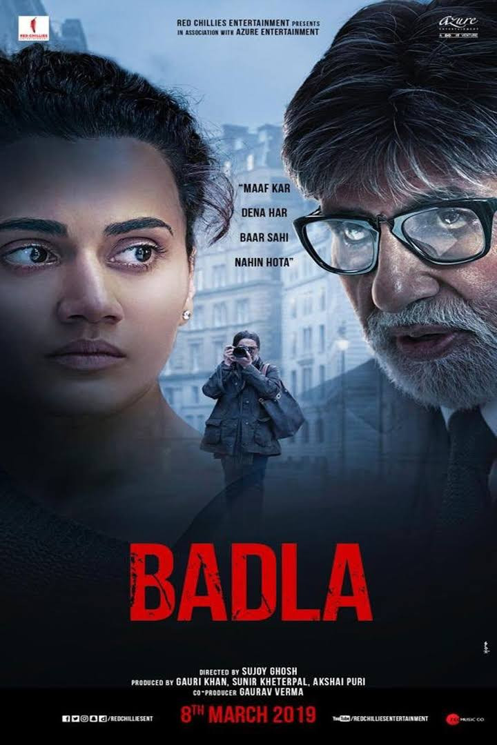New Hindi Movei 2018 2019 Bolliwood: Badla 2019 Hindi Movie Pre-DVDRip 1.4Gb Download