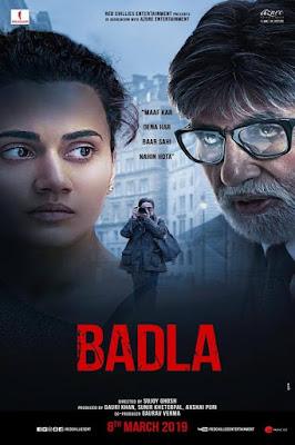 Badla 2019 Hindi Movie Pre-DVDRip 350Mb Download