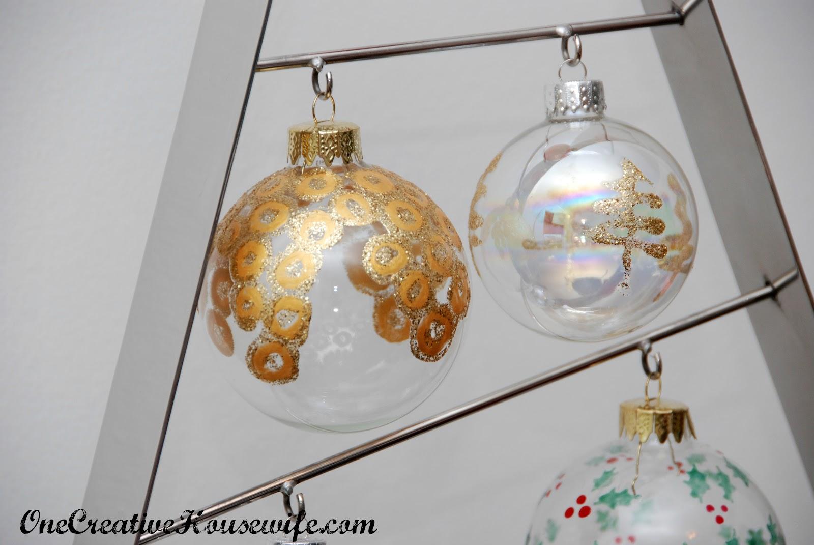 One Creative Housewife: DIY Christmas Ornaments
