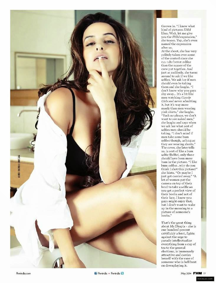 Sizzling actress Neha Dhupia on the for FHM India