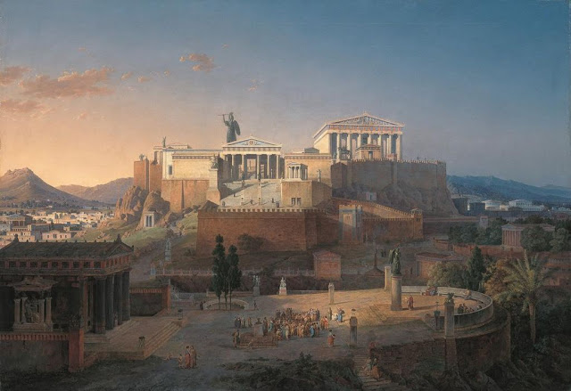 The Acropolis of Athens by Leo von Klenze (1846) .Neue Pinakothek  Munich