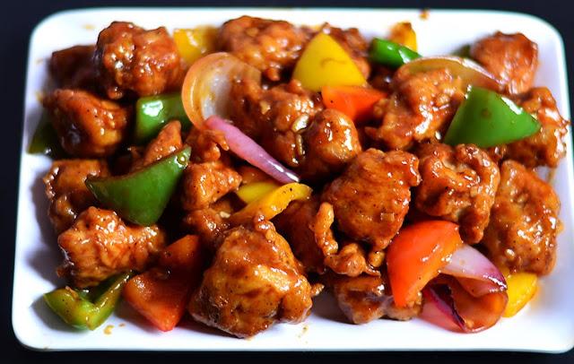 indo chinese dry chilli chicken recipe