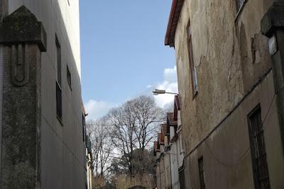 ruela e casas no Porto