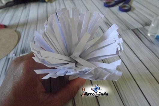 Flores gigantes de papel passo a passo