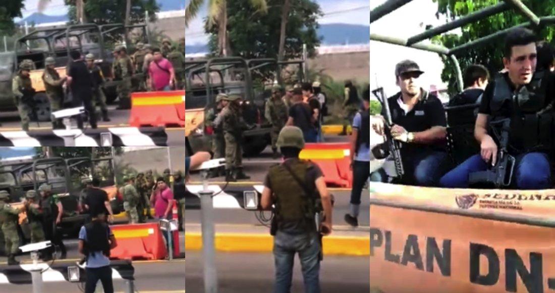 Video, Sicarios del Cartel de Sinaloa retienen a Militares en Culiacán tras la Detención de Ovidio Guzman, les perdonaron la vida