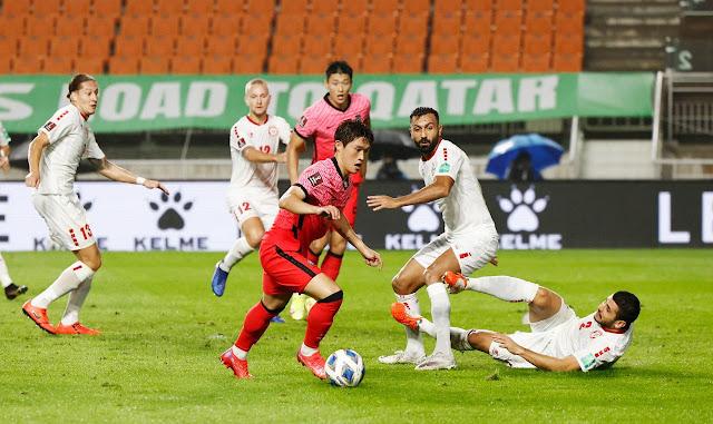 ملخص هدف فوز كوريا الجنوبية علي لبنان (1-0) تصفيات كاس العالم