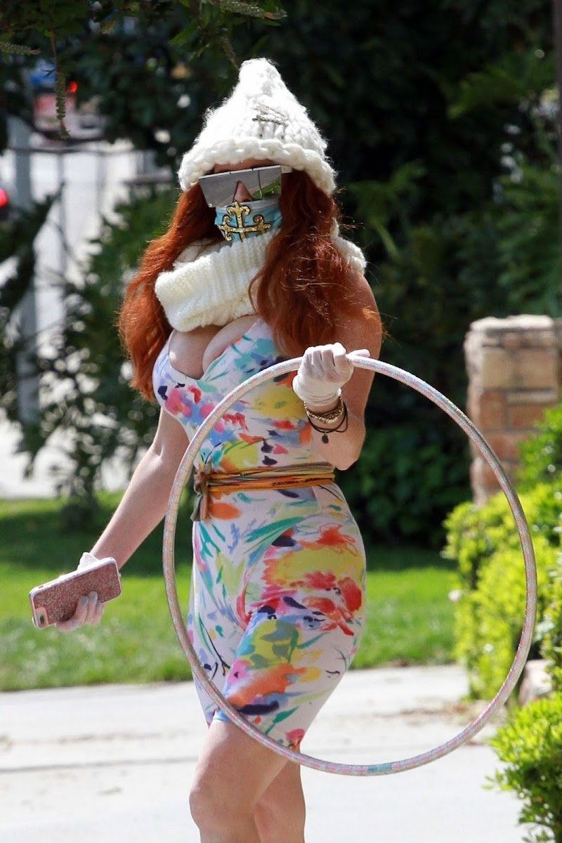 Phoebe Price Clicked While Playing with Hula Hoops Out in Los Angeles 13 Apr-2020 | Ceelbrity Photos Daily